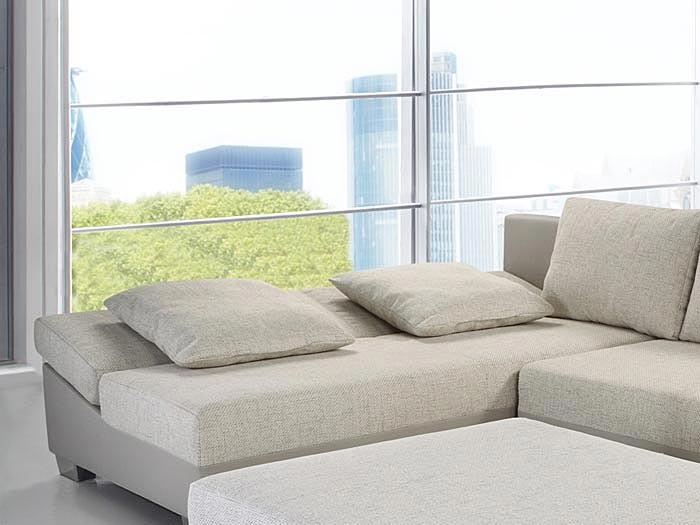 couch schlafsofa isola 285x209cm mit hocker hellbeige beige wohnlandschaft ebay. Black Bedroom Furniture Sets. Home Design Ideas