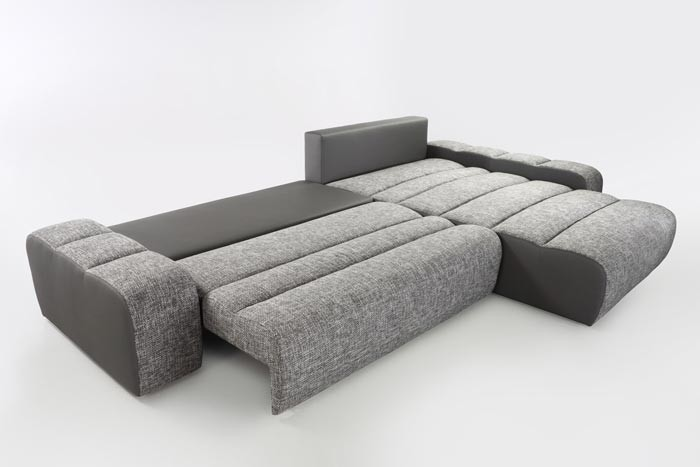 ecksofa brescia mit hocker 338x212cm hellgrau grau wohnlandschaft schlafsofa ebay. Black Bedroom Furniture Sets. Home Design Ideas
