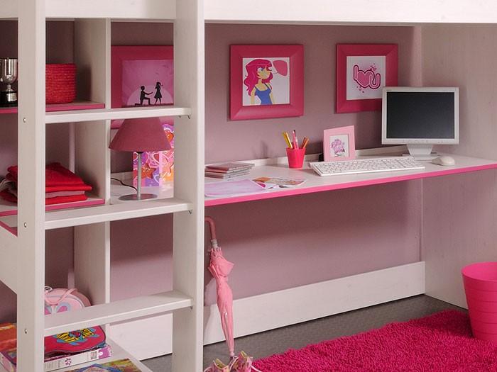 hochbett snoopy 3 108x206x180cm mit schreibtisch kiefer. Black Bedroom Furniture Sets. Home Design Ideas
