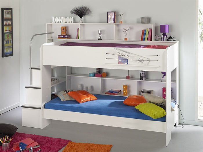 etagenbett hochbett twin 6 245x171x114cm wei doppelstockbett kinderbett ebay. Black Bedroom Furniture Sets. Home Design Ideas