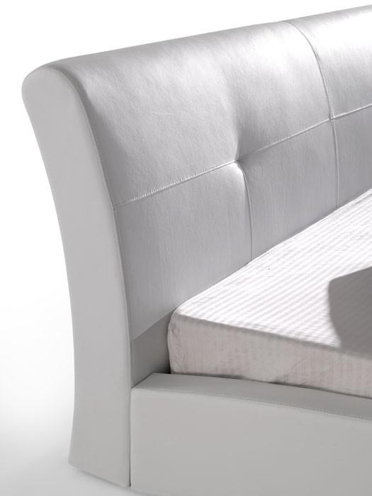 polsterbett wei bett 140x200 kunstleder bettgestell kunstlederbett amadeo ebay. Black Bedroom Furniture Sets. Home Design Ideas
