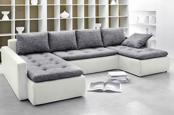 polsterecke chioma 324x201 169cm anthrazit wei couch sofa wohnlandschaft ebay. Black Bedroom Furniture Sets. Home Design Ideas