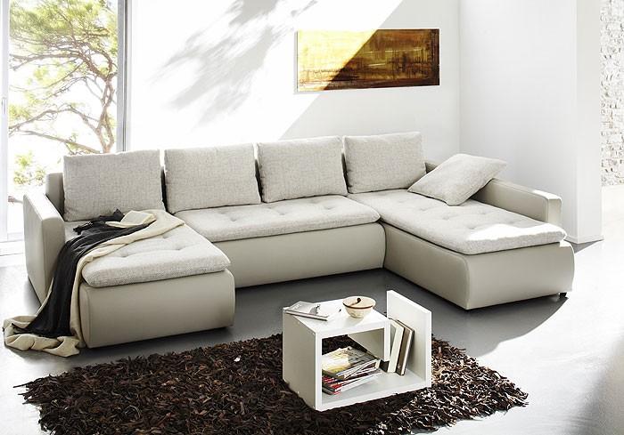Polsterecke chioma 324x201 169cm beige couch sofa for Beige wohnlandschaft