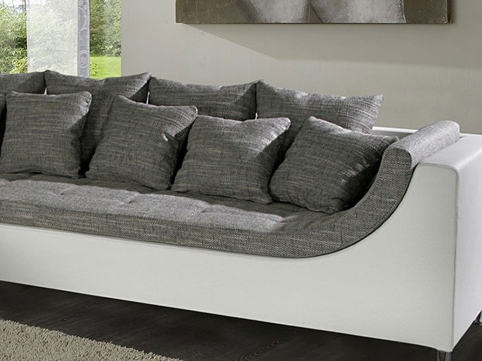eckcouch madeleine 326x213cm wei schwarz couch sofa. Black Bedroom Furniture Sets. Home Design Ideas