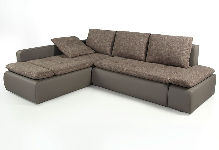 ecksofa sunrise 259x201cm braun beige schlamm couch sofa polsterecke schlafsofa ebay. Black Bedroom Furniture Sets. Home Design Ideas