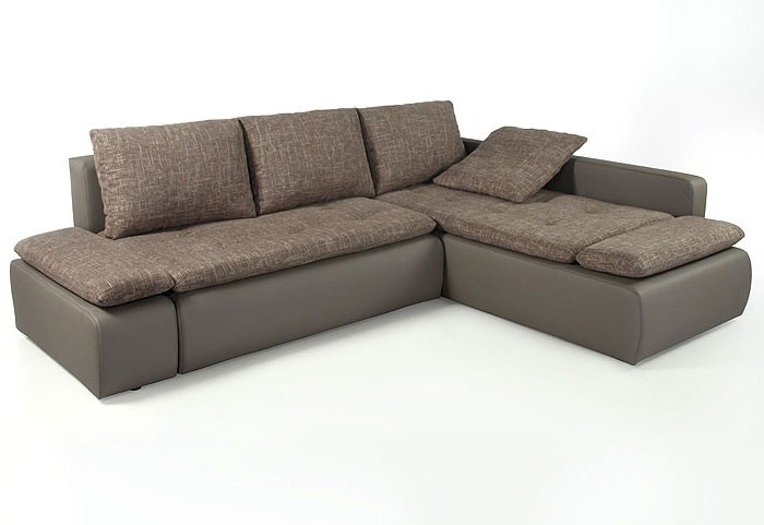 couch sunrise 259x201cm webstoff braun beige kunstleder. Black Bedroom Furniture Sets. Home Design Ideas