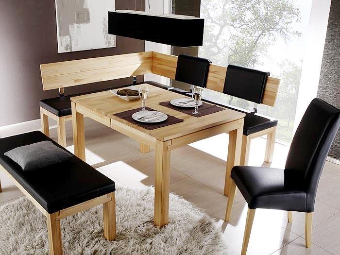 eckbankgruppe essgruppe luca i holzbank esstisch stuhl eckbank massivholz ebay. Black Bedroom Furniture Sets. Home Design Ideas