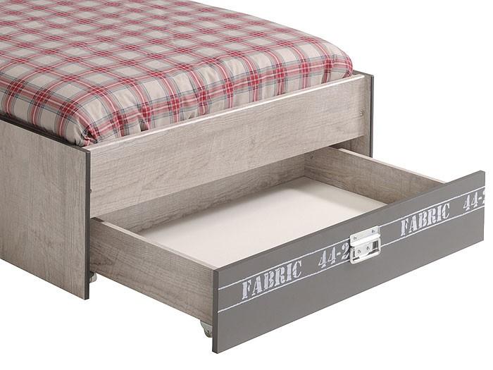 jugendbett fabien 4 90x200cm bett mit bettkasten esche. Black Bedroom Furniture Sets. Home Design Ideas