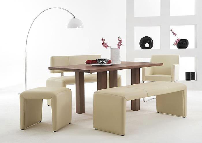 sitzbank lederbank laney 140cm echtleder elfenbein ohne. Black Bedroom Furniture Sets. Home Design Ideas