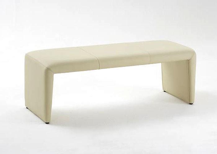 sitzbank lederbank laney 180 cm echtleder elfenbein bank ohne lehne wohnbereiche esszimmer. Black Bedroom Furniture Sets. Home Design Ideas