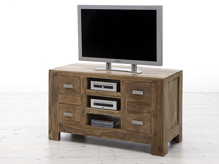 tv lowboard salima sheesham 100x60cm sideboard schrank ebay. Black Bedroom Furniture Sets. Home Design Ideas