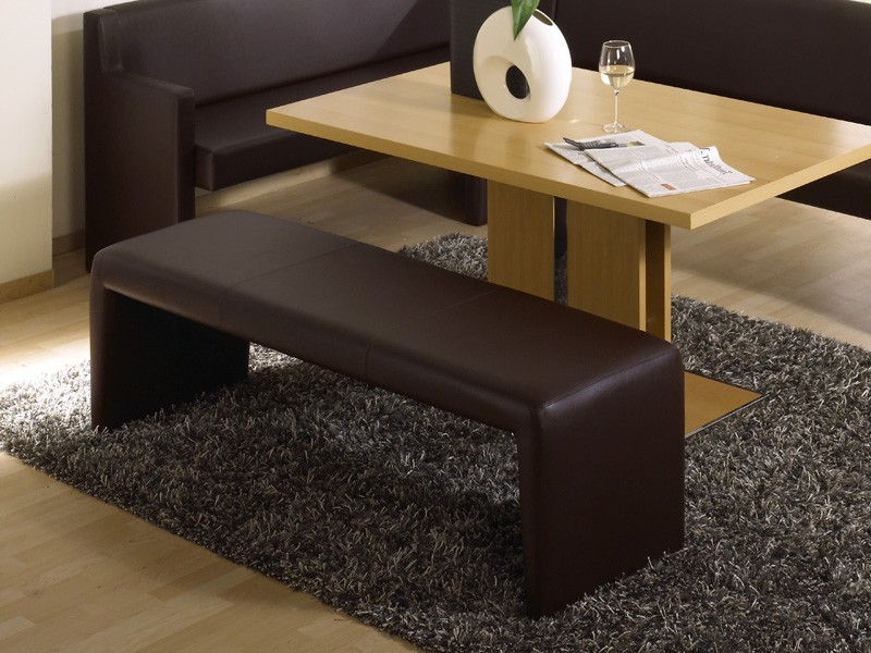 polsterbank malta ohne lehne 140cm in verschied varianten kontrastnaht sitzbank ebay. Black Bedroom Furniture Sets. Home Design Ideas