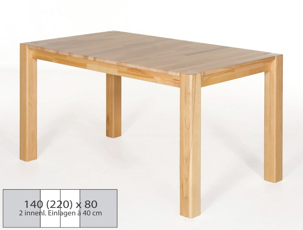 Esstisch 140x80 Ausziehbar : esstisch massivholz 140 x 80 ausziehbar das beste aus ~ Michelbontemps.com Haus und Dekorationen