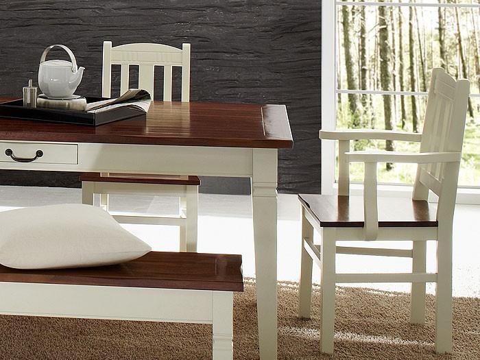 esszimmer arezzo middle akazie antikwei esstisch st hle bank glasvitrine ebay. Black Bedroom Furniture Sets. Home Design Ideas