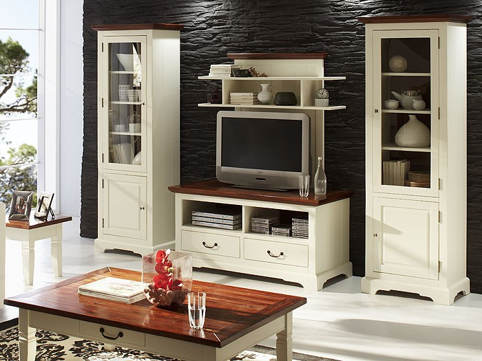 wohnwand arezzo akazie antikwei massiv anbauwand. Black Bedroom Furniture Sets. Home Design Ideas