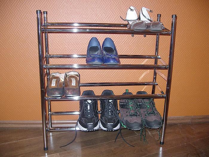 Schuhregal metall ausziehbar 4 ebenen bis 24 paar for Schuhregal metall