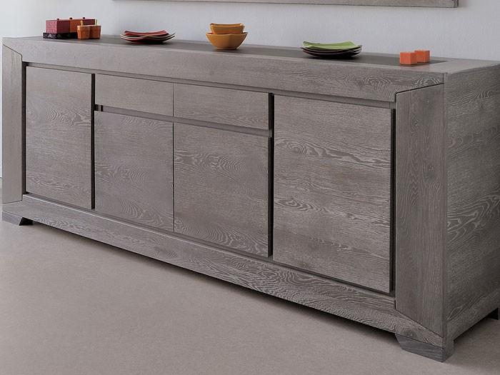 esszimmer 6 teilig eiche grau 1x esstisch 4x stuhl 1x sideboard heros 1 ebay. Black Bedroom Furniture Sets. Home Design Ideas