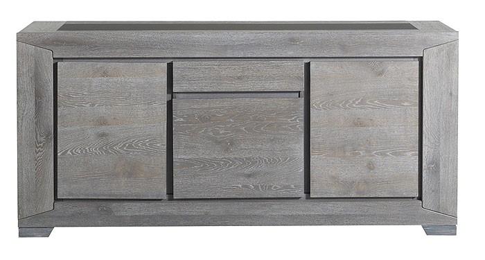 ... Eiche grau, 195x91x48cm, 3-türig Esszimmer Sideboards & Vitrinen