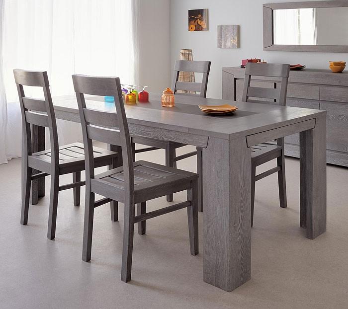 esstisch mit 4 st hlen essgruppe eiche grau 5 teilig tischgruppe heros 1 ebay. Black Bedroom Furniture Sets. Home Design Ideas