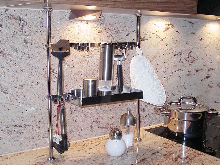 Küchenregal 41x48 65cm edelstahl teleskopregal regal