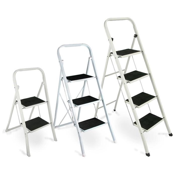 trittleiter klappleiter leiter stufentritt klapptritt stufenleiter trittstufe ebay. Black Bedroom Furniture Sets. Home Design Ideas