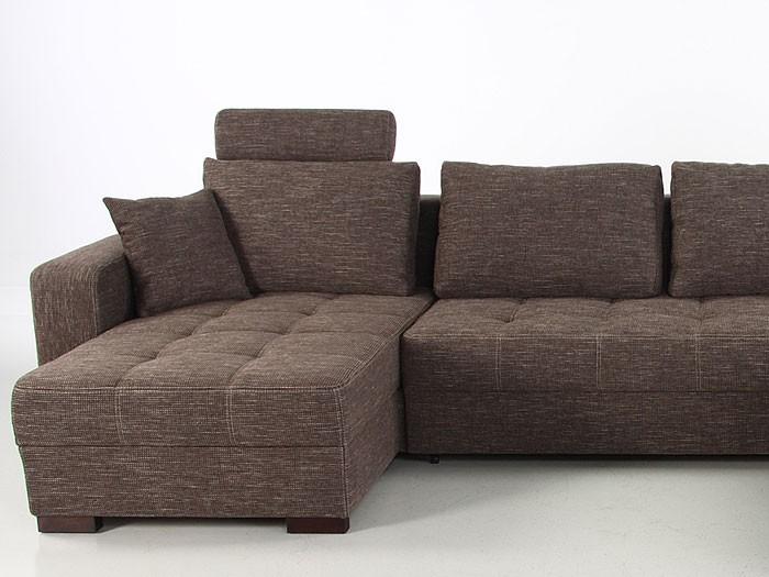 Wohnlandschaft antigua braun 357x222x162 cm bettfunktion for Couch bettfunktion