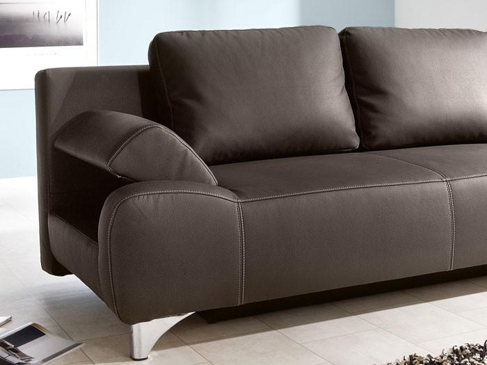 Schlafsofa sofa muriel 204x97cm braun dicklederoptik for Schlafsofa funktionssofa