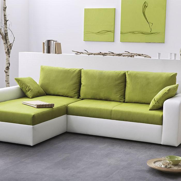 ecksofa vida 244x174cm gr n wei schlafsofa schlafcouch sofa polsterecke. Black Bedroom Furniture Sets. Home Design Ideas