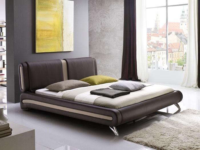 polsterbett malin 180x200cm braun bettgestell doppelbett bett. Black Bedroom Furniture Sets. Home Design Ideas