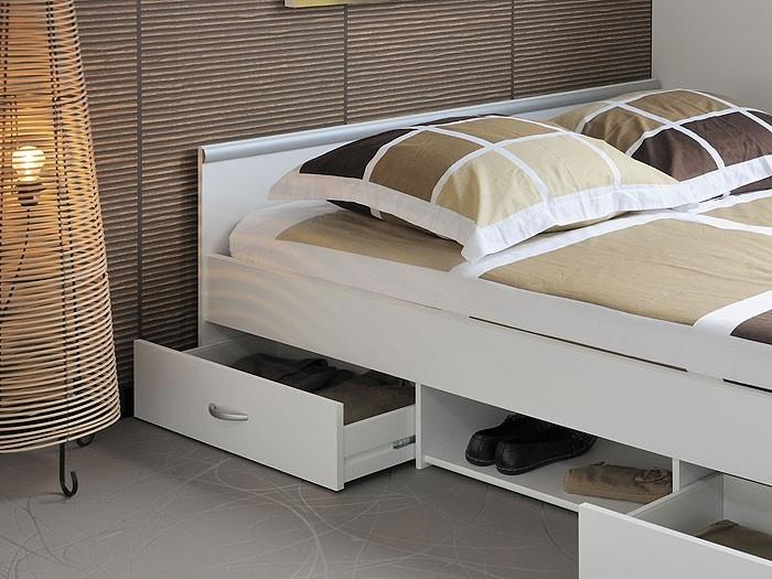 jugendbett bett 140x200 weiss lattenrost matratze bettkasten leader 3 1. Black Bedroom Furniture Sets. Home Design Ideas