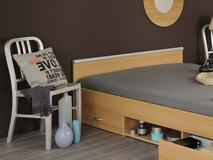 jugendbett leader 4 1 140x200 buche lattenrost. Black Bedroom Furniture Sets. Home Design Ideas