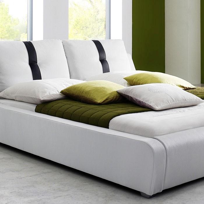 polsterbett weiss komplett bett 180x200 lattenrost matratze doppelbett lian ebay. Black Bedroom Furniture Sets. Home Design Ideas