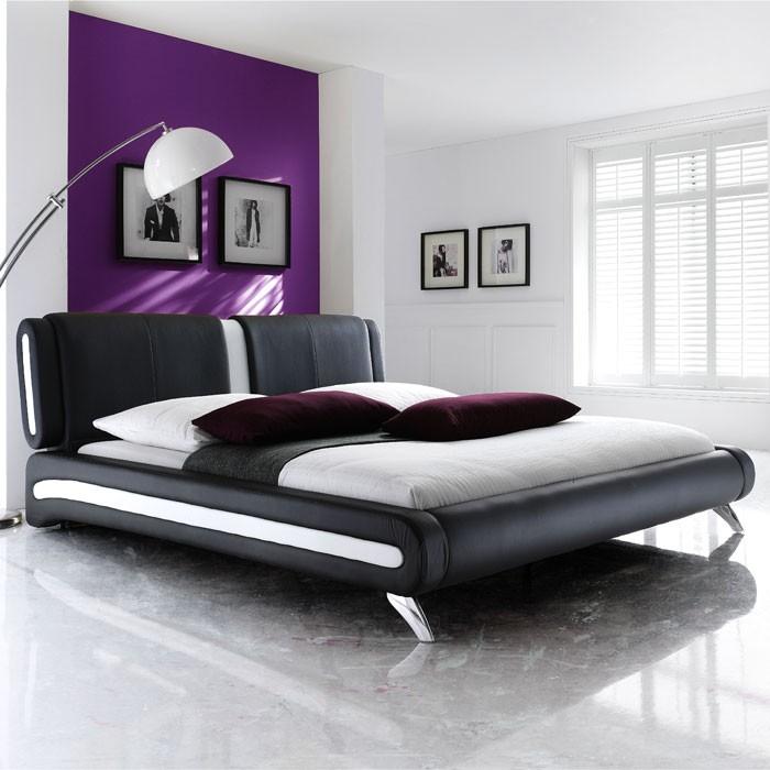 polsterbett komplett malin bett 160x200 schwarz. Black Bedroom Furniture Sets. Home Design Ideas