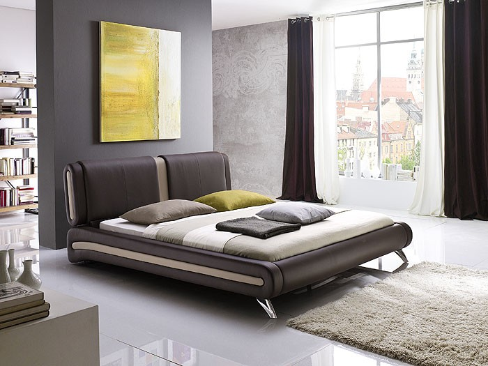 polsterbett komplett malin bett 160x200 braun lattenrost. Black Bedroom Furniture Sets. Home Design Ideas