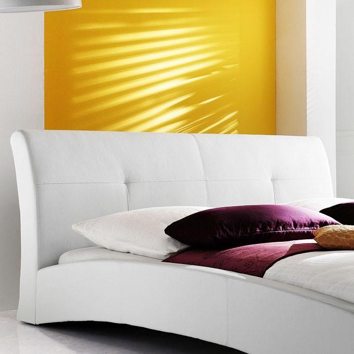 polsterbett komplett amadeo bett 140x200 cm wei. Black Bedroom Furniture Sets. Home Design Ideas
