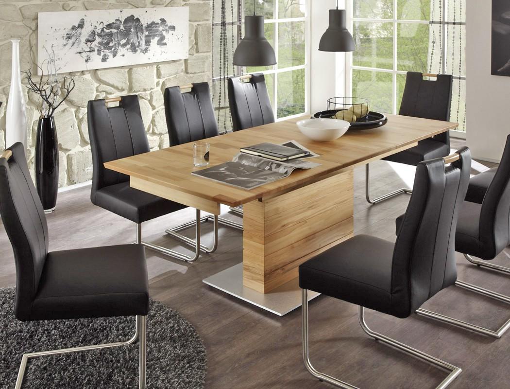 hochwertiger s ulentisch esstisch ausziehbar tisch rechteckig s ule a atis 2xl ebay. Black Bedroom Furniture Sets. Home Design Ideas