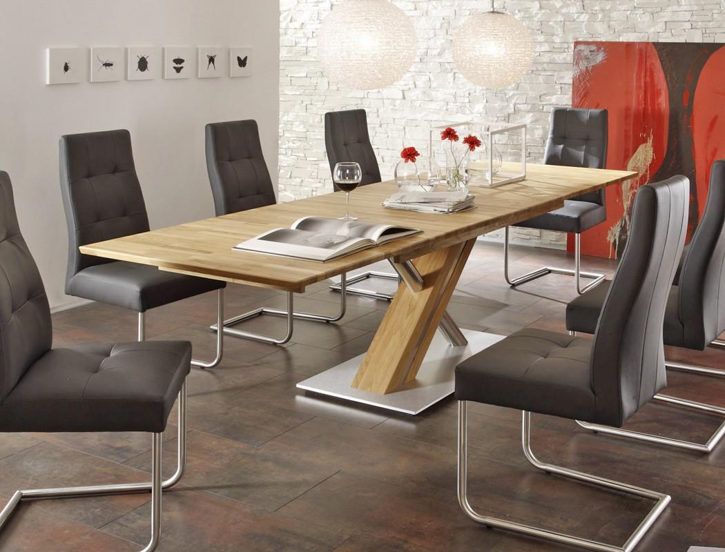 Hochwertiger säulentisch esstisch ausziehbar rechteckig säule c ...