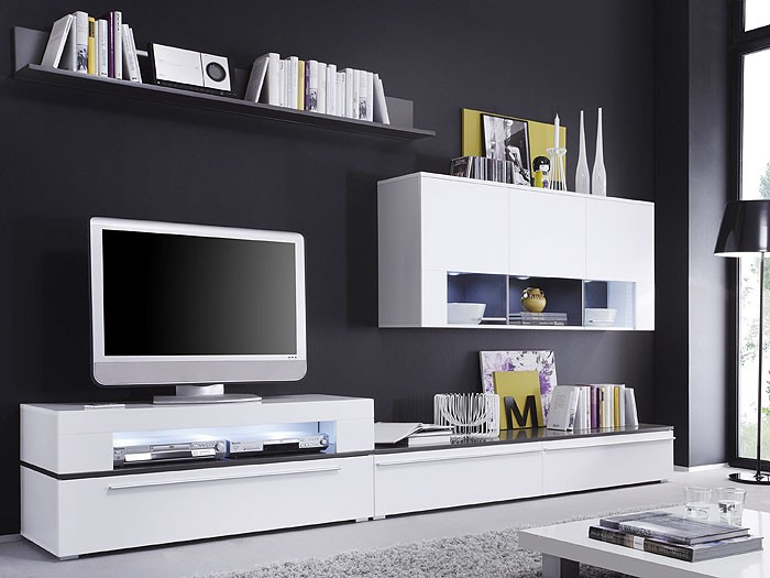 wohnwand modern schwarz matt | towsoniwb, Hause ideen