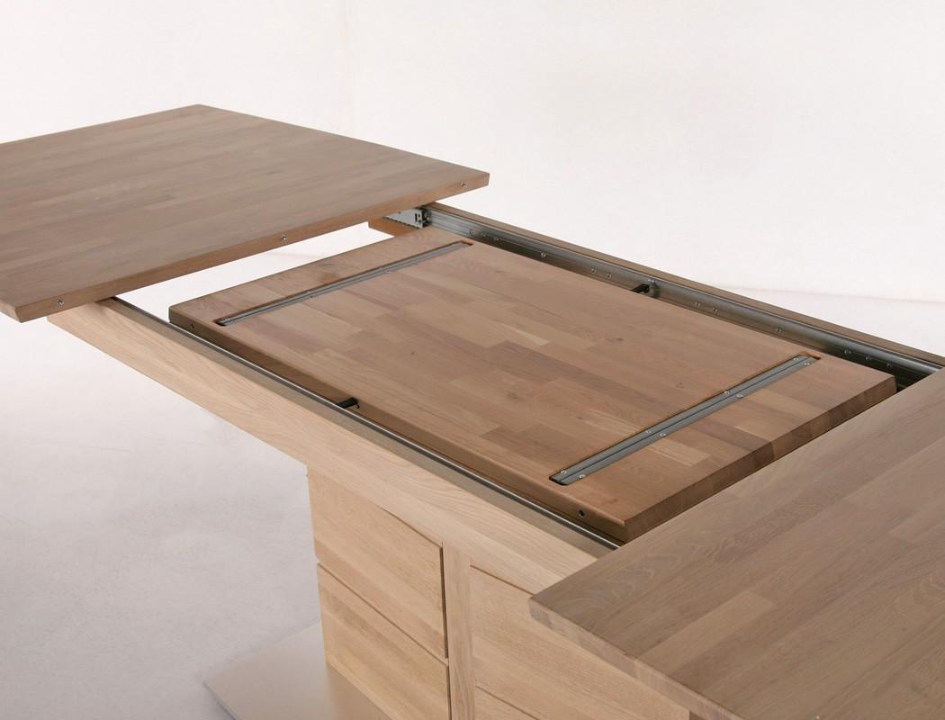 hochwertiger s ulentisch esstisch ausziehbar rechteckig s ule e tisch atis 1xl ebay. Black Bedroom Furniture Sets. Home Design Ideas