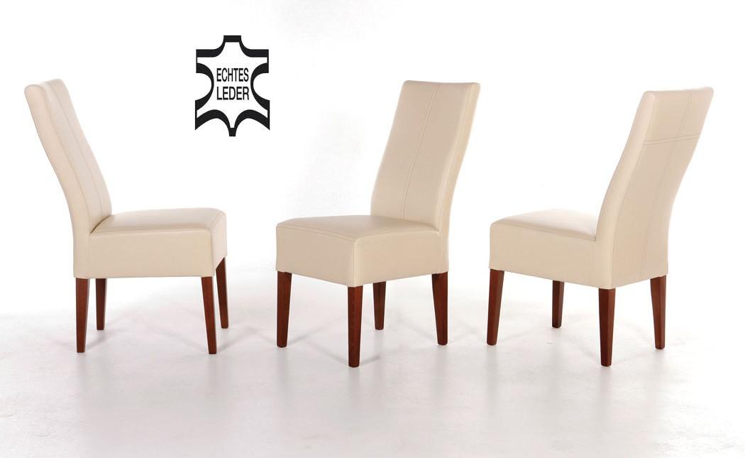 hochwertiger stuhl echtleder polsterstuhl esszimmerstuhl. Black Bedroom Furniture Sets. Home Design Ideas