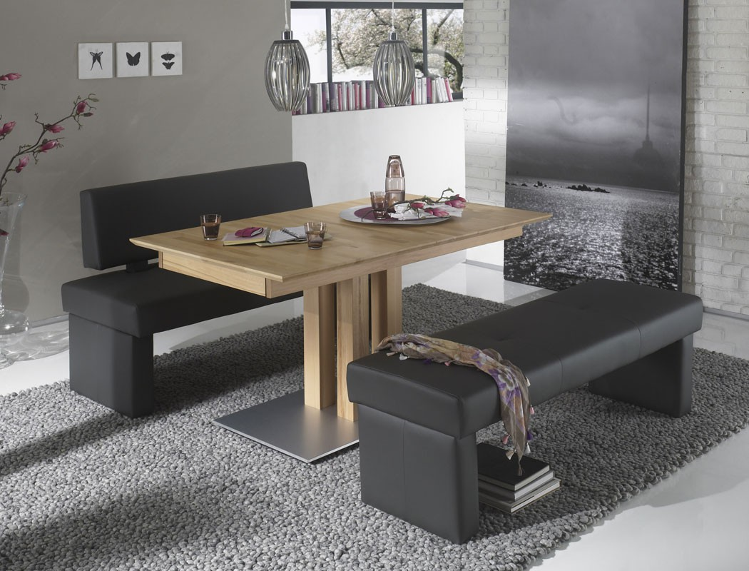 hochwertige bank mit lehne 130cm 150cm 180cm sitzbank polsterbank dorian variant ebay. Black Bedroom Furniture Sets. Home Design Ideas