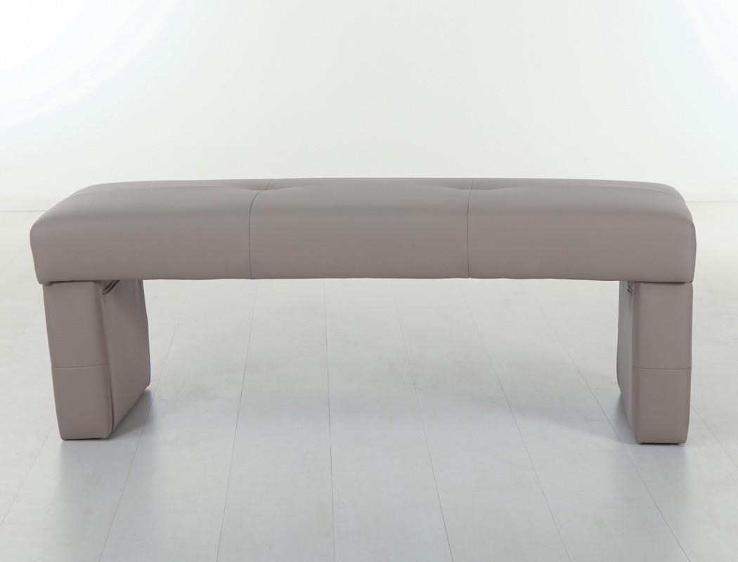 hochwertige rundbank ohne lehne 130cm 150cm 180cm sitzbank polsterbank dorian ebay. Black Bedroom Furniture Sets. Home Design Ideas