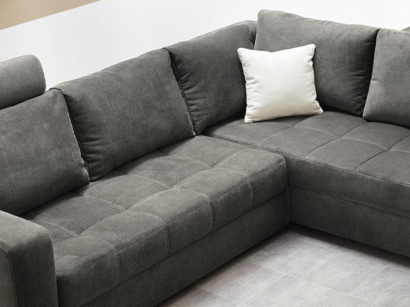 polsterecke aurum grau 267x221cm bettfunktion sofa couch wohnlandschaft ebay. Black Bedroom Furniture Sets. Home Design Ideas