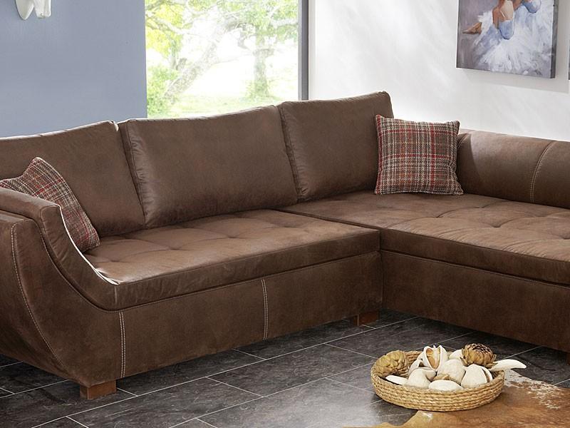 wohnlandschaft 287x196 braun antikleder optik ecksofa. Black Bedroom Furniture Sets. Home Design Ideas