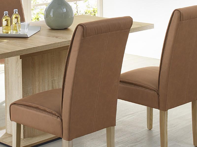 esszimmerstuhl stuhl eiche s gerau cognac wohnzimmerstuhl polsterstuhl kensie ebay. Black Bedroom Furniture Sets. Home Design Ideas