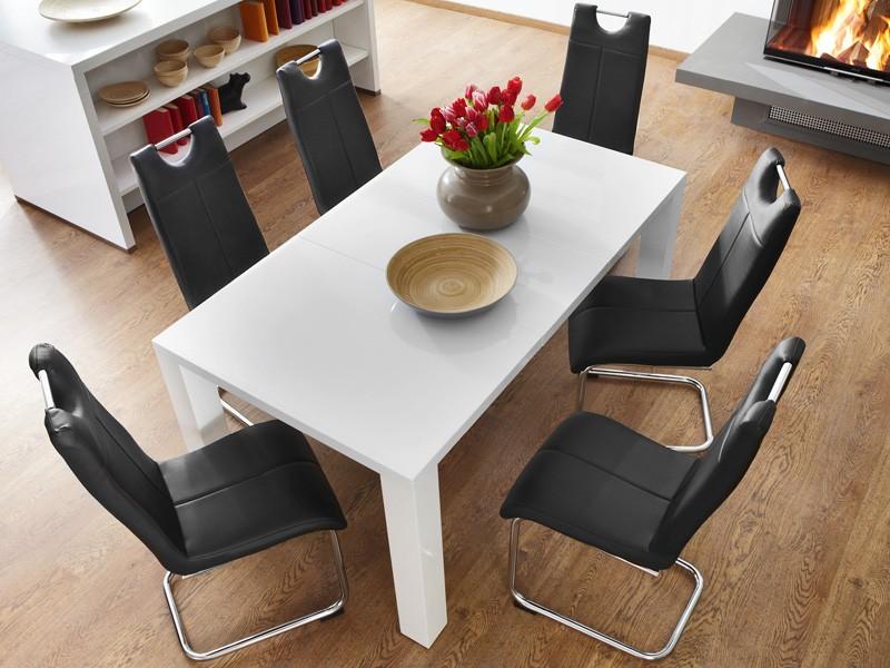 essgruppe tischgruppe tisch ausziehbar 4x schwingstuhl. Black Bedroom Furniture Sets. Home Design Ideas