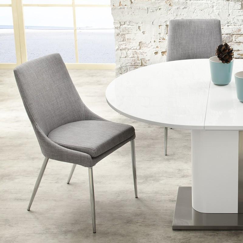Essgruppe Tischgruppe Tisch weiß Hochglanz 6x