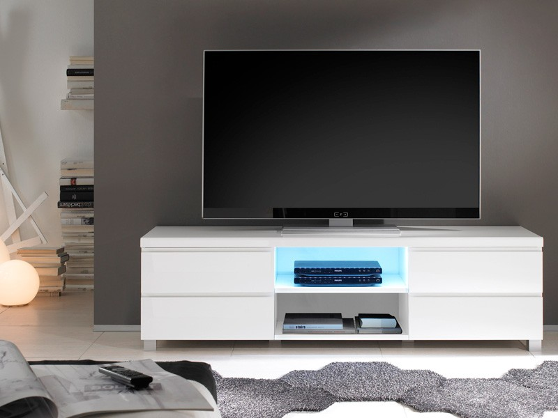 tv lowboard hochglanz weiss 162x46x42 tv board tv moebel. Black Bedroom Furniture Sets. Home Design Ideas