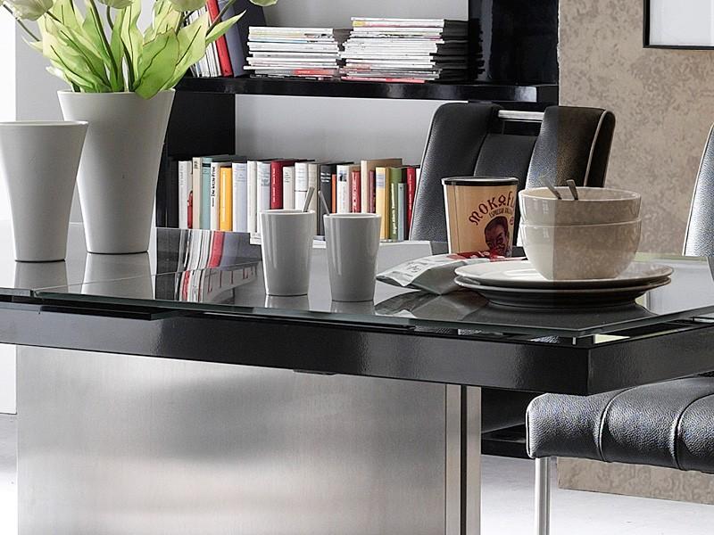 Glastisch ausziehbar Esstisch grau verschiedene Größen ...