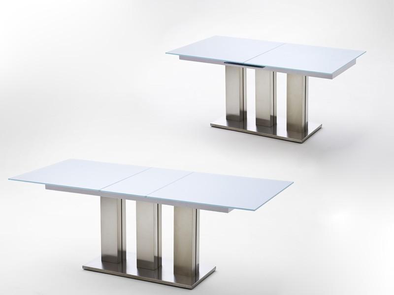 glastisch ausziehbar esstisch weiss verschiedene gr en s ulentisch tisch mason ebay. Black Bedroom Furniture Sets. Home Design Ideas